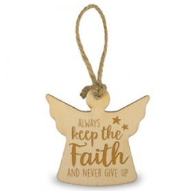 Houten Engel- Faith