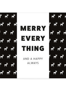 Belgische chocoladereep :Merry Everything Happy Always