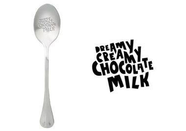 One Message Spoon- Chocolate Milk
