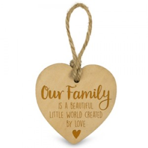 Houten Hartje-Our Family