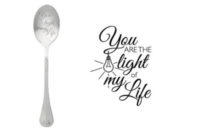 One Message Spoon- Light of my life