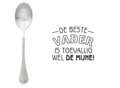 One Message Spoon-Beste Vader